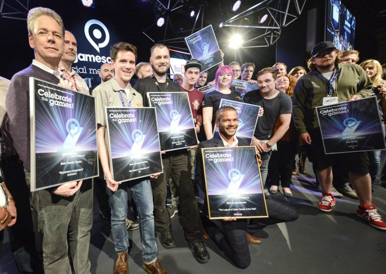 Gamescom award 2016, social media stage, Halle 10.1