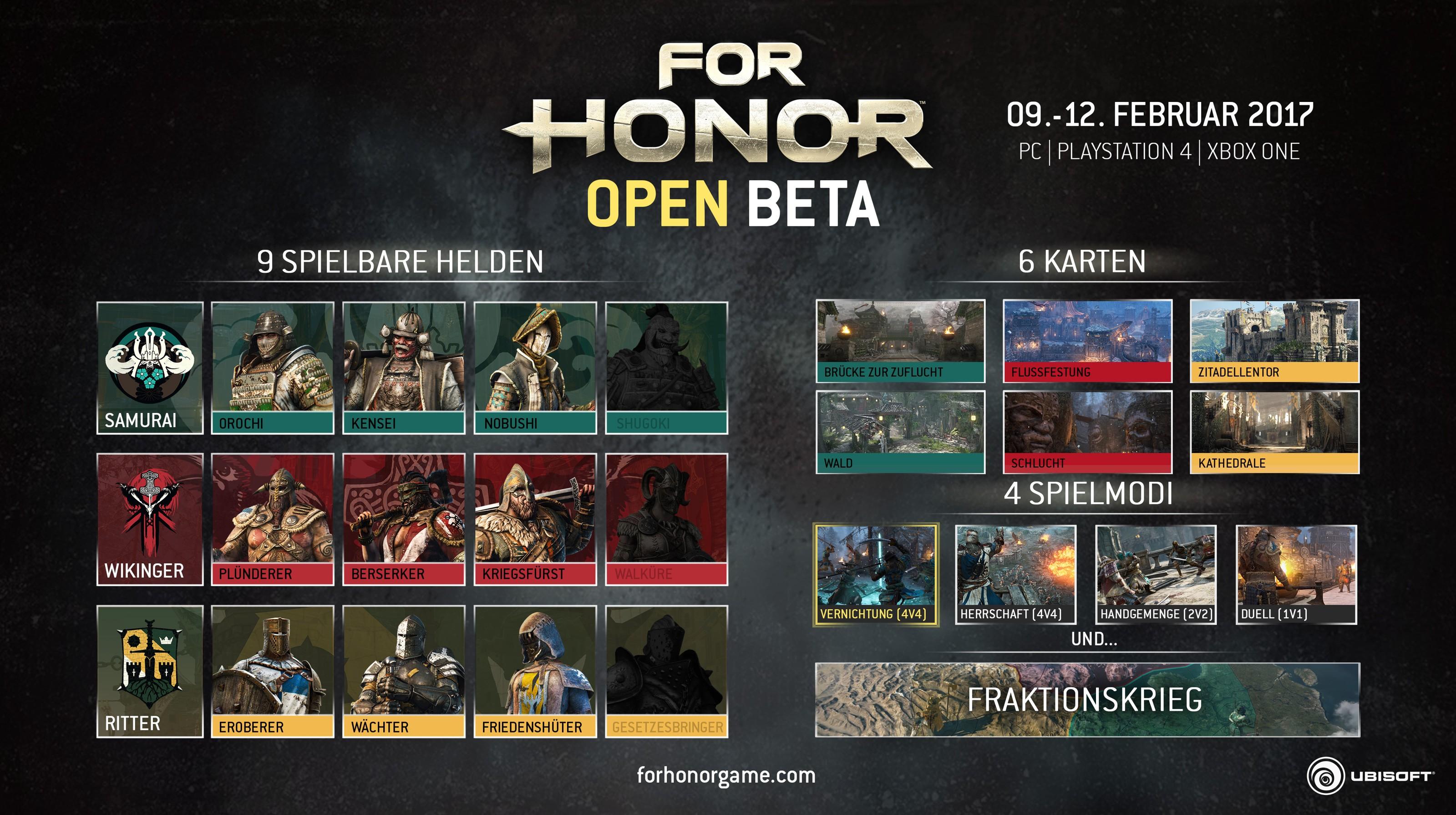 For Honor – Open Beta angekündigt