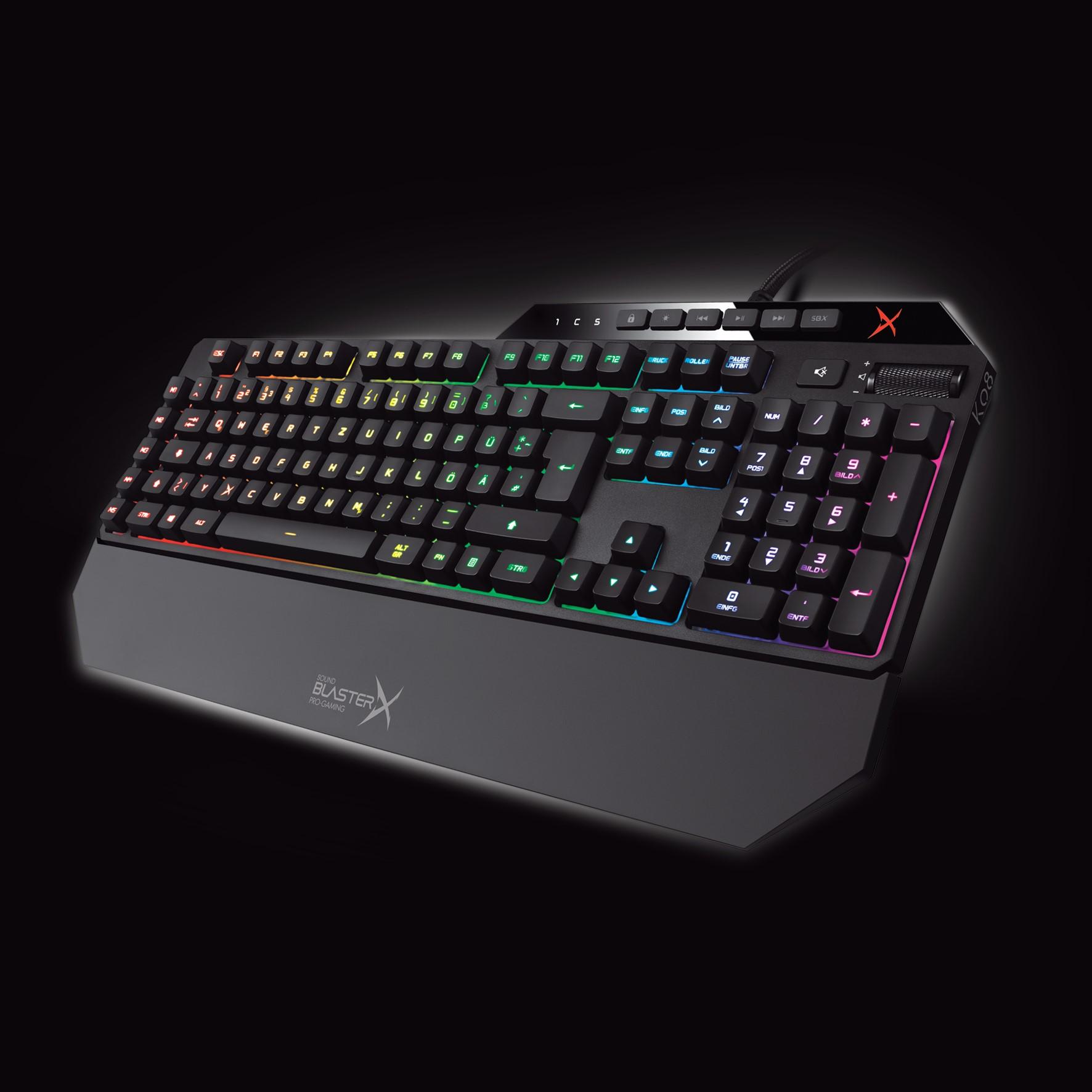 Creatives Gaming-Tastatur ab sofort in deutschem Layout erhältlich