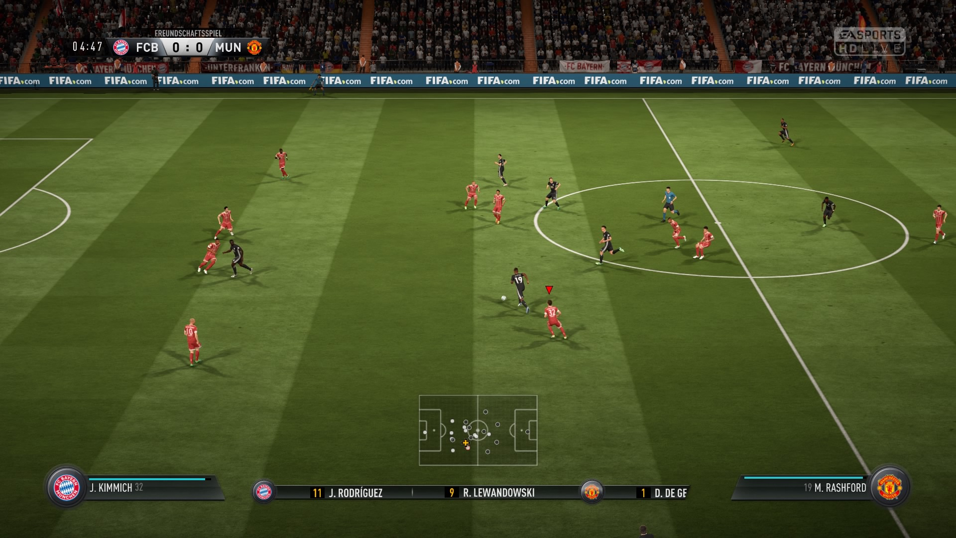 FIFA 18 DEMO Anstoß 0:0 FCB : MUN, 1.HZ
