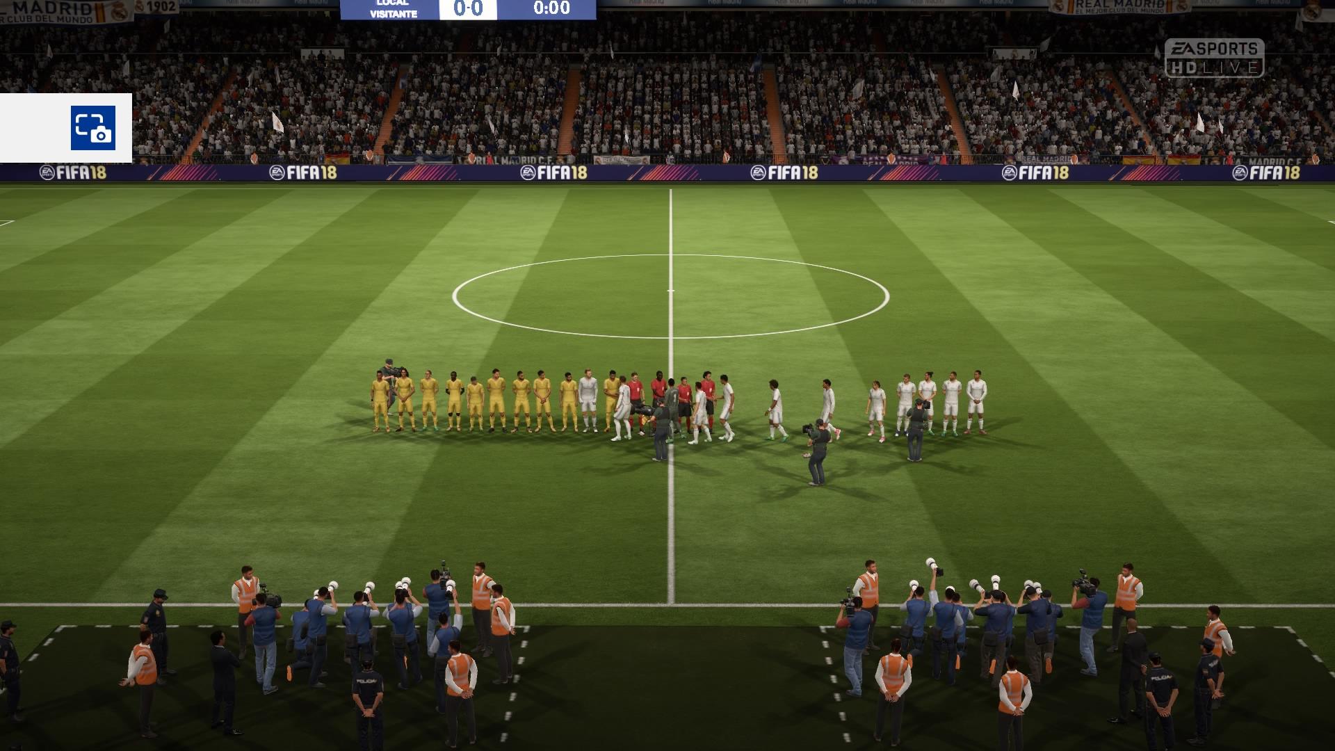 FIFA 18 DEMO Anstoß 0:0 RMA : PSG, 1.HZ