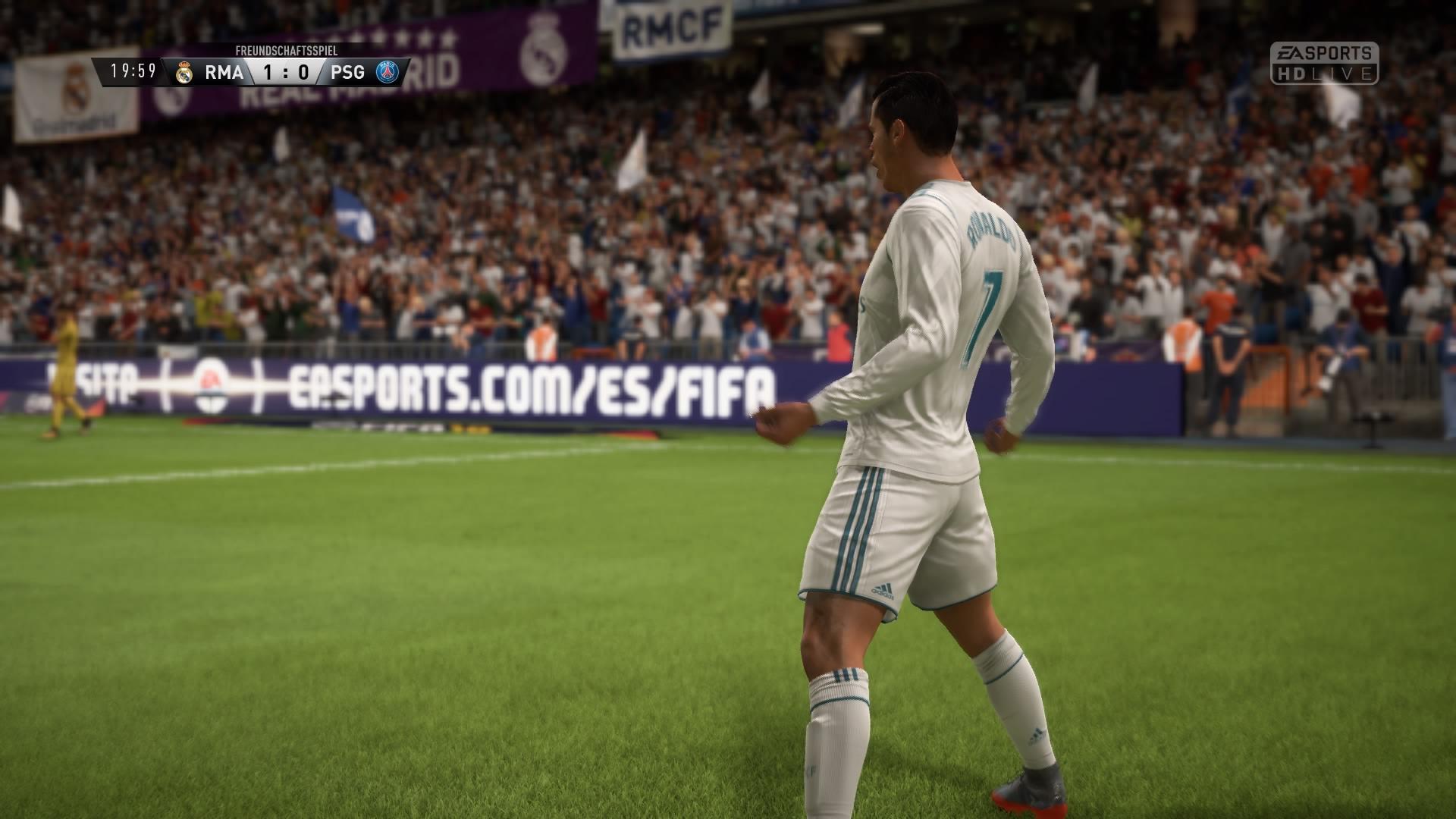 FIFA 18 DEMO Anstoß 1:0 RMA : PSG, 1.HZ