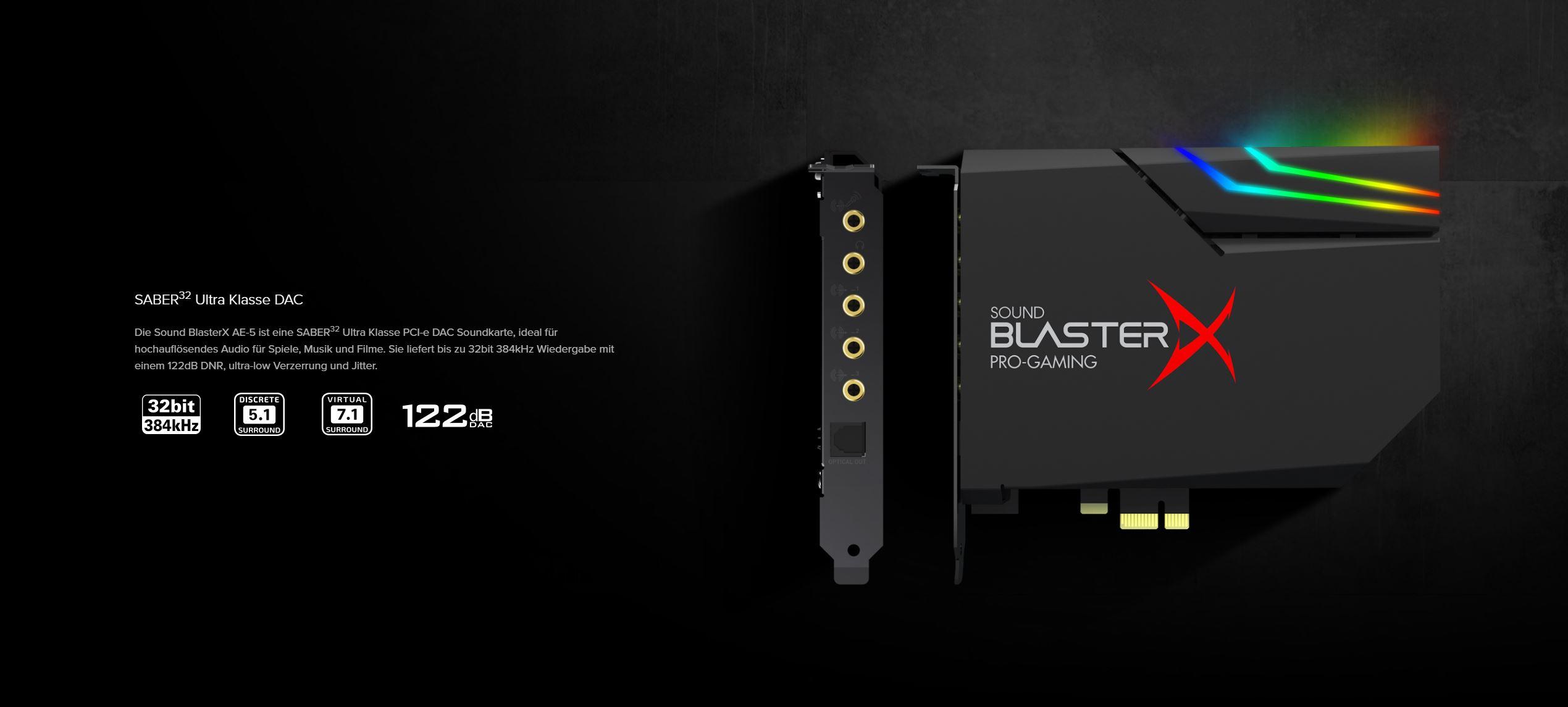 CREATIVE Sound BlasterX AE-5 4