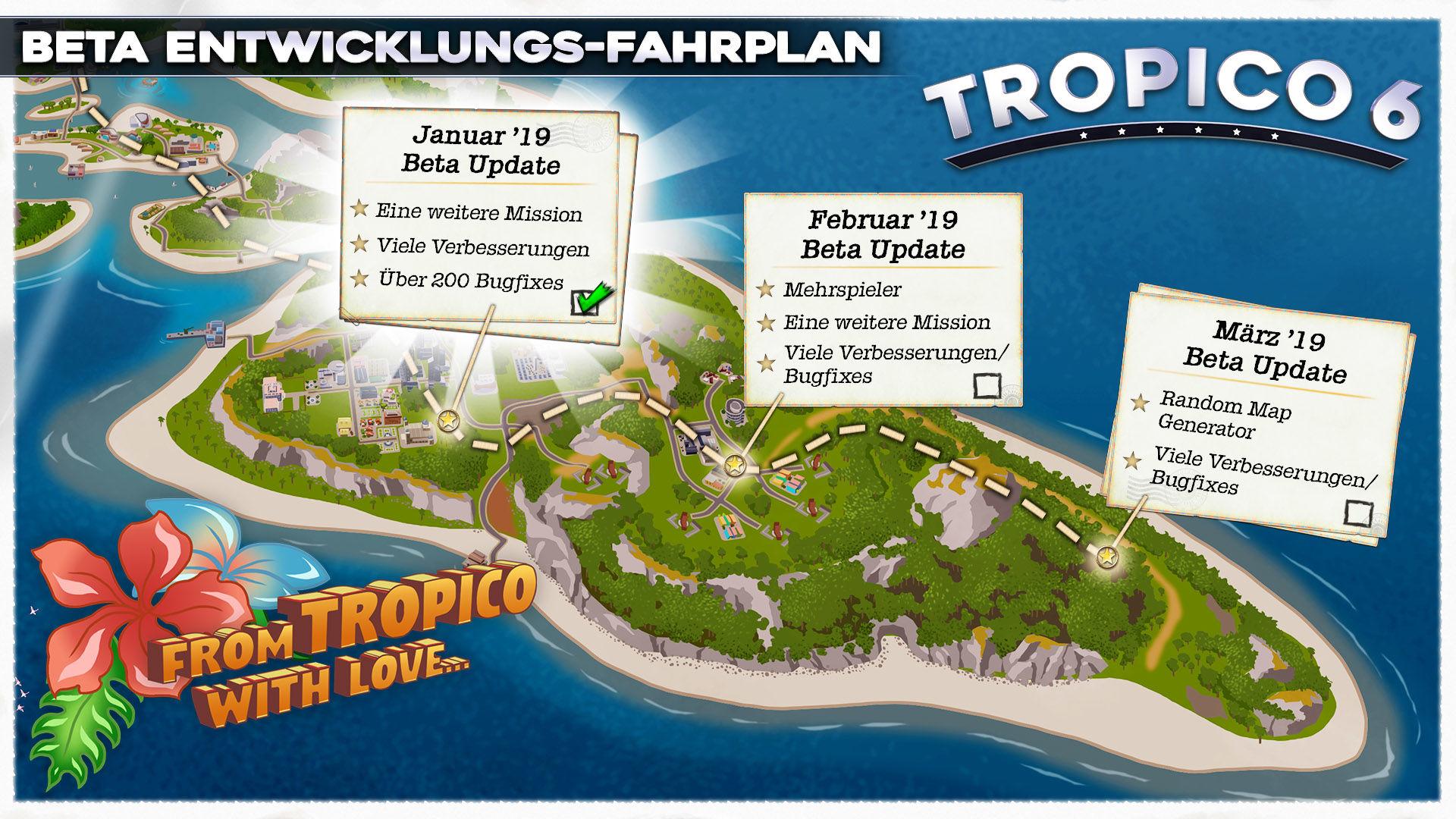 Tropico 6: Erstes Beta-Update nach Verschiebung und Entwicklungs ...