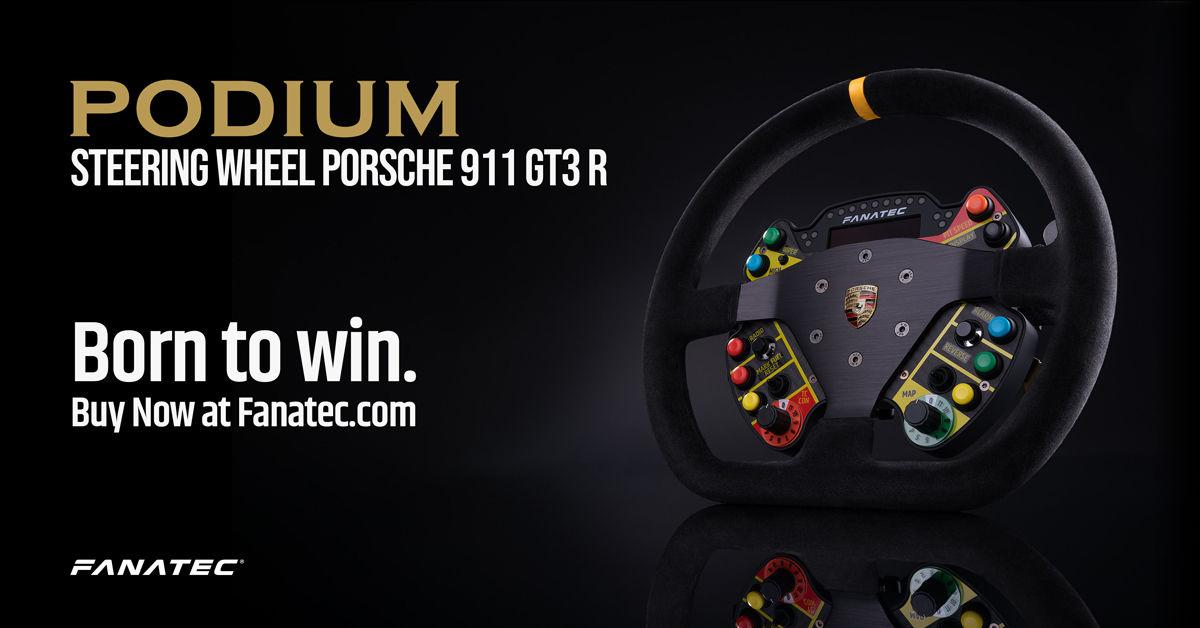 Podium Steering Wheel Porsche 911 GT3 R