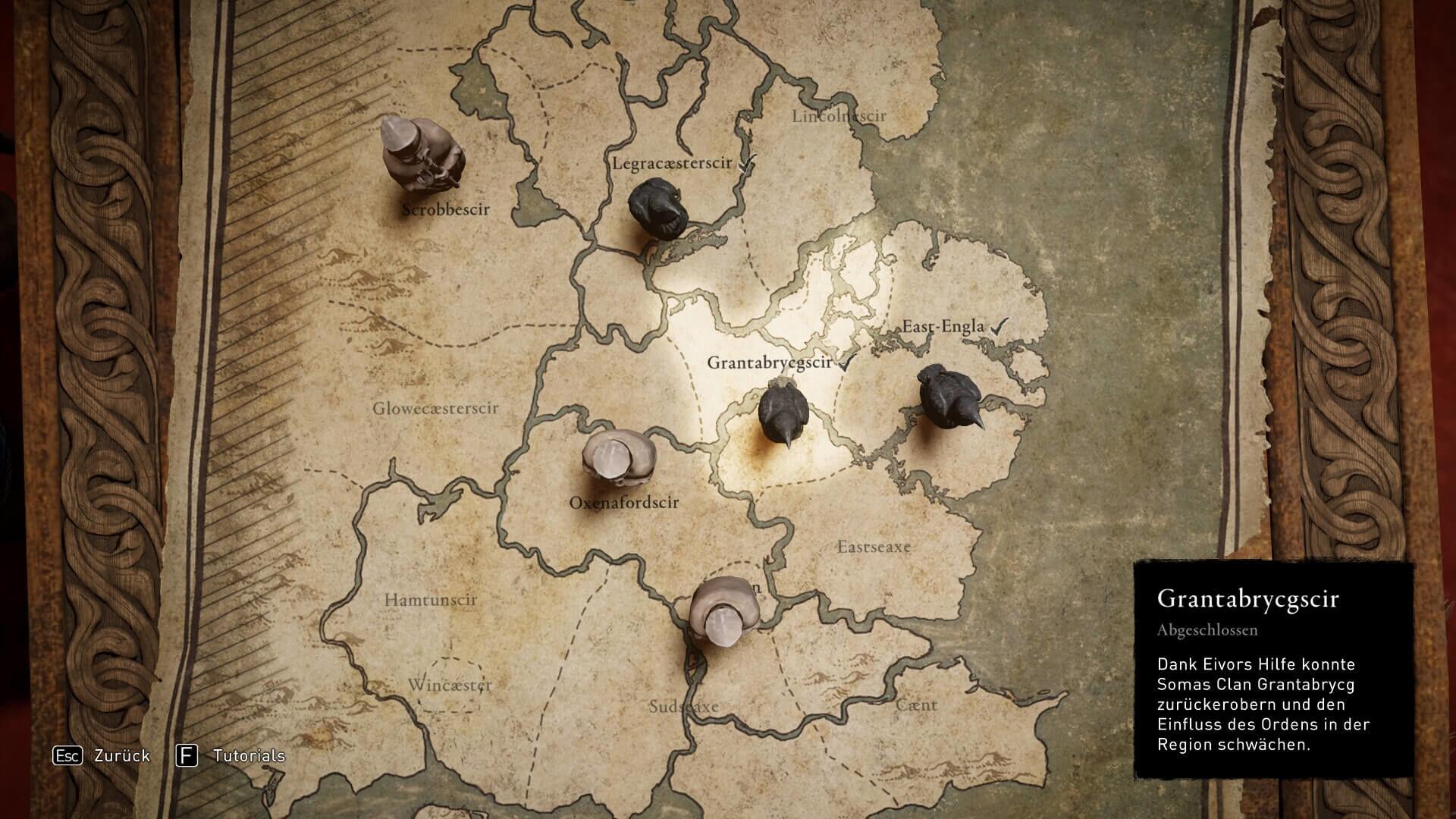 Assassin's Creed Valhalla - Bündnisskarte