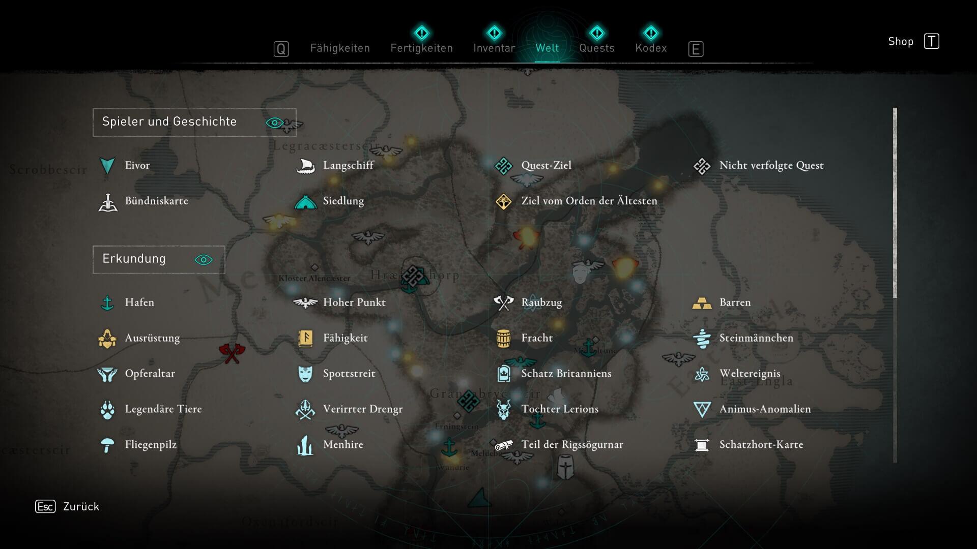 Assassin's Creed Valhalla - Map