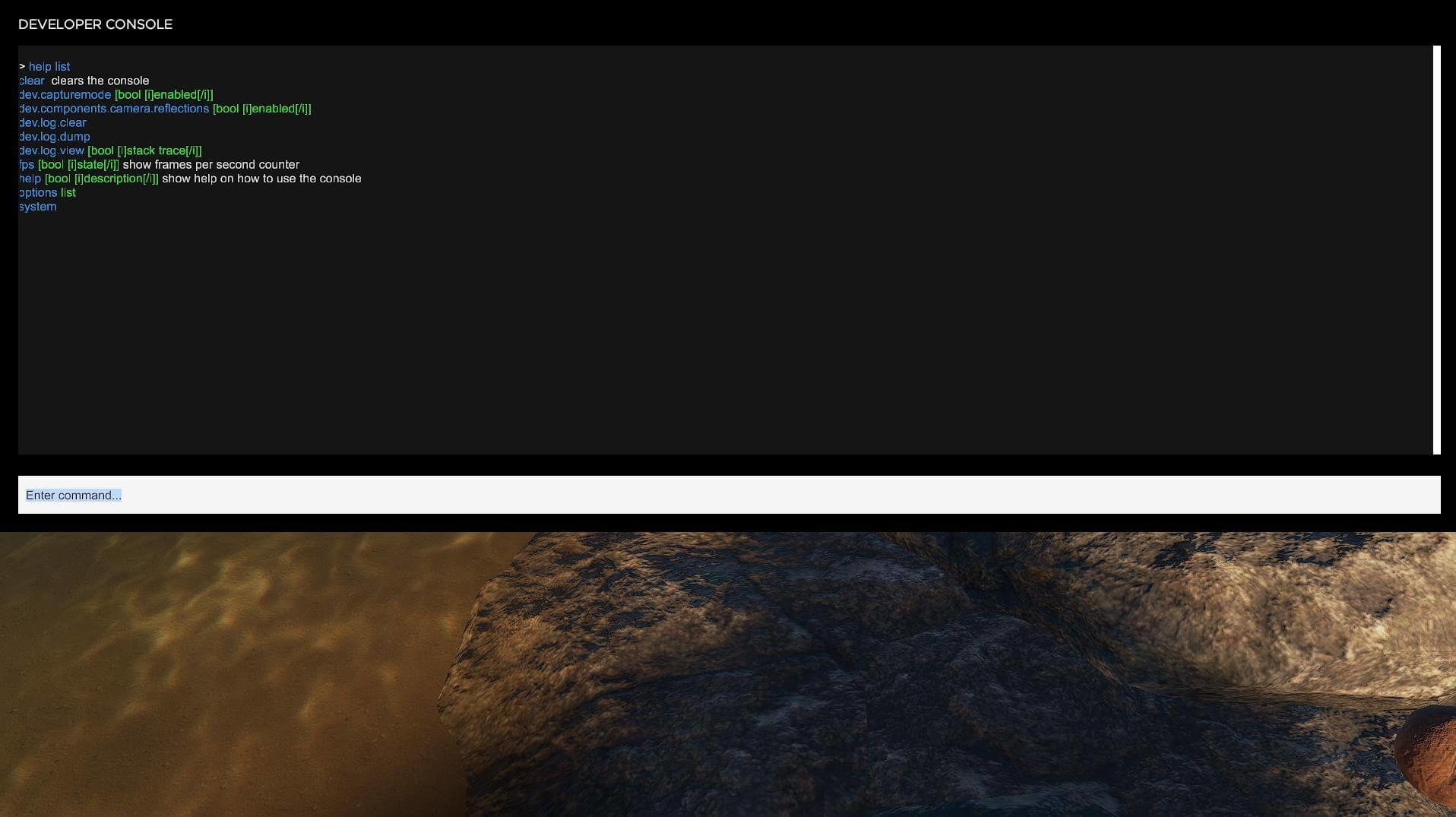 Stranded Deep Entwicklerkonsole