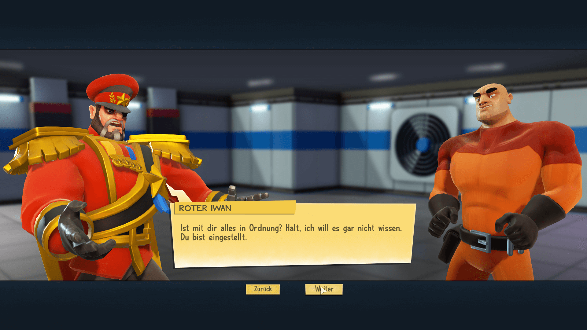 Evil Genius dialog