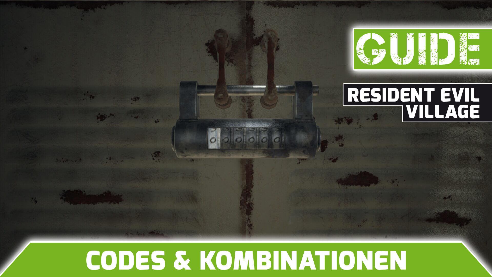 Resident Evil Village Codes und Kombinationen