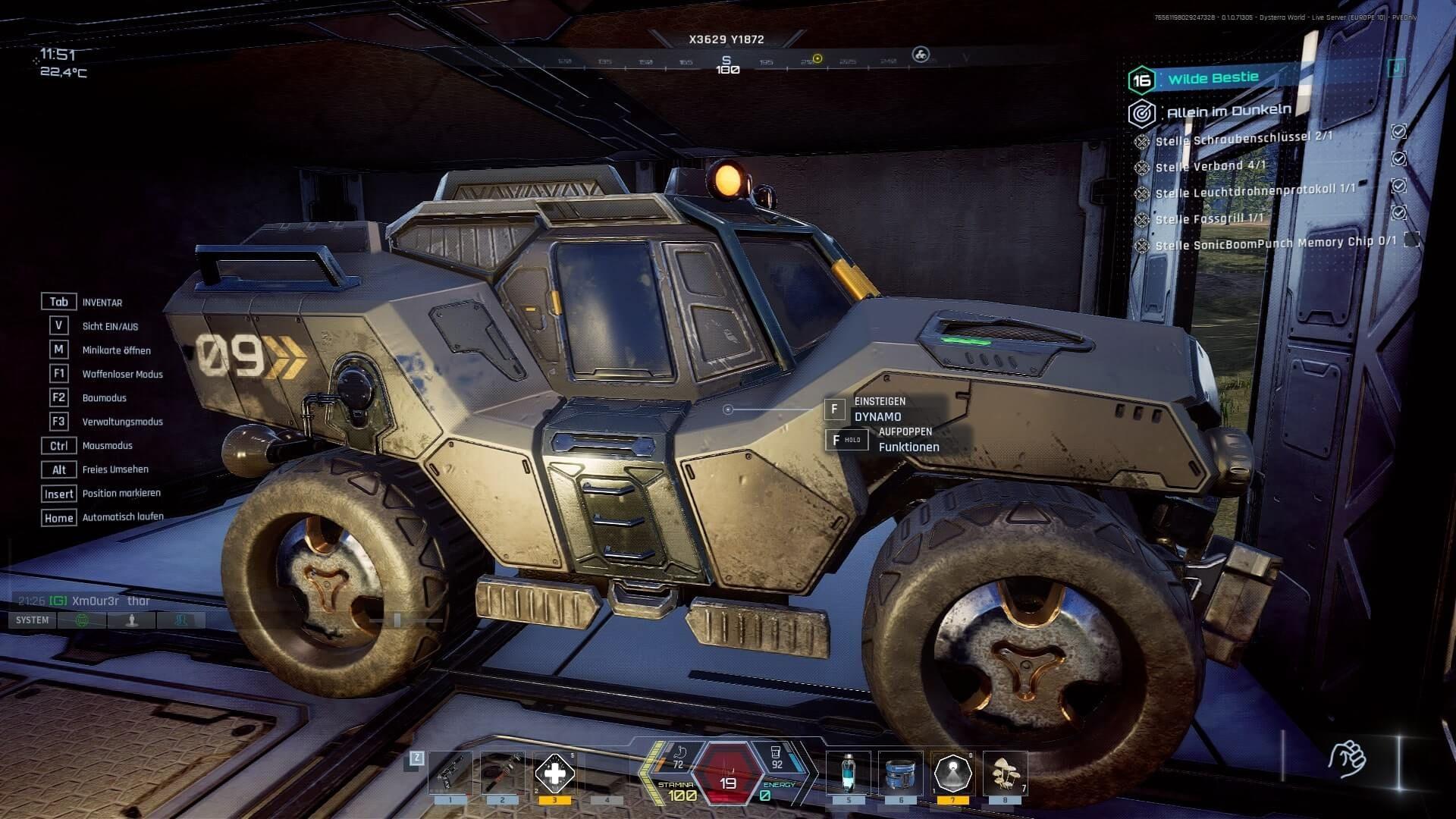 Dysterra Fahrzeug